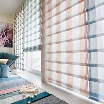 Roman pleated style blinds