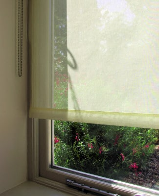 Roller blinds voiles