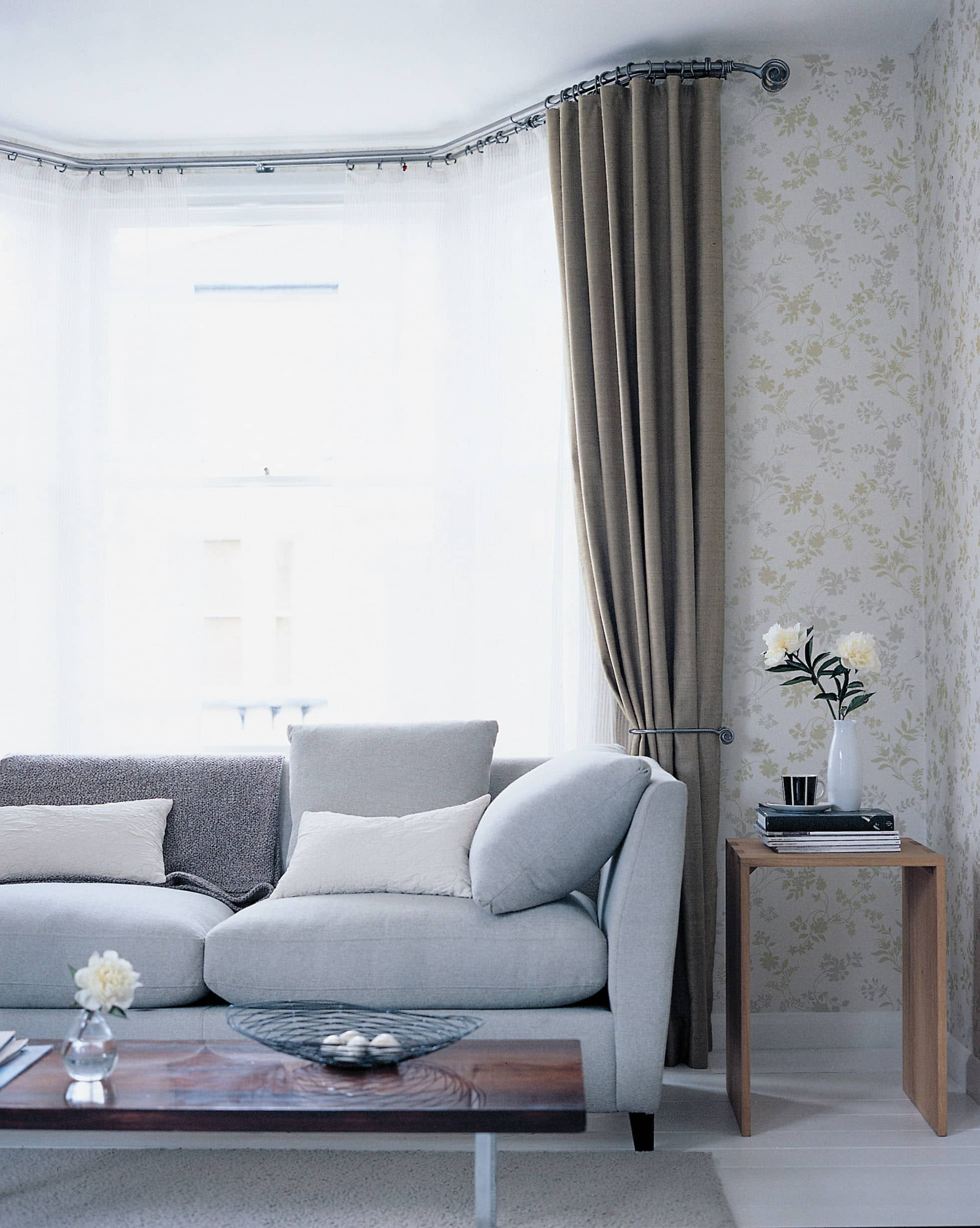 Bay Window Curtains And Blinds Babic Interiors