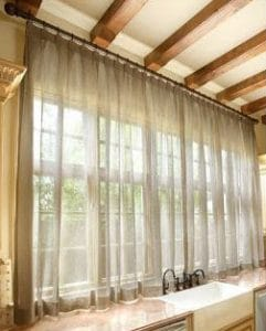 Voile pinch pleat curtains