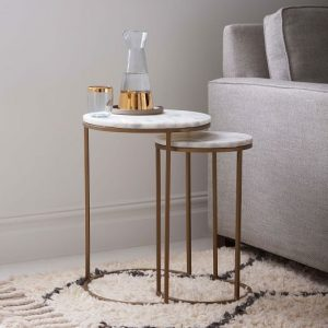 nest of contemporary side tables