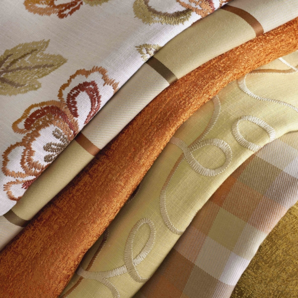 Curtain fabric is available from us when you commission us to make ...